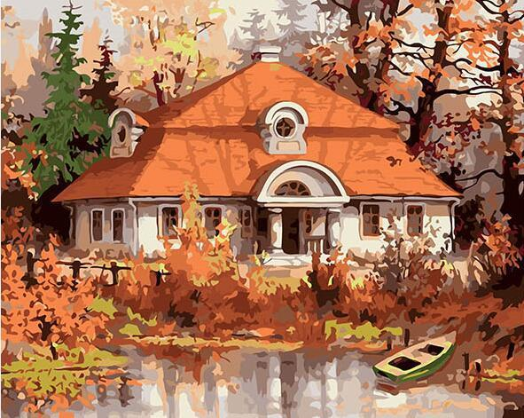 Forest House Paint by Numbers