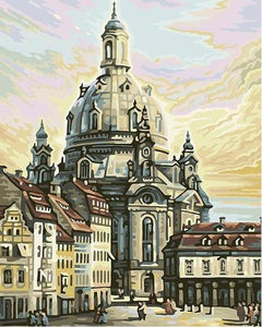 Frauenkirche Dresden Paint by Numbers