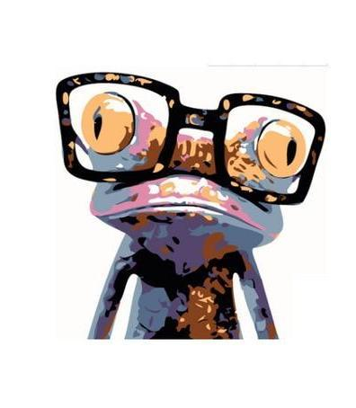 Frog with Glasses Paint by Numbers