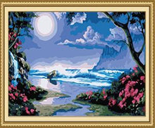 Load image into Gallery viewer, Full Moon Night Paint by Numbers