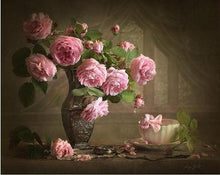 Load image into Gallery viewer, Gorgeous Pink Roses Paint by Numbers