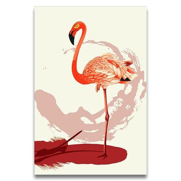 Greater Flamingo Paint by Numbers