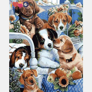 Group of Dogs Paint by Numbers