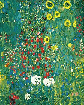 Gustav Klimt's Sunflowers Park Pint by Numbers