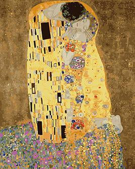 Gustav Klimt's The Kiss Pint by Numbers