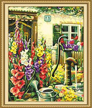 Load image into Gallery viewer, Hand Pump & Flowers Paint by Numbers