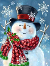 Load image into Gallery viewer, Happy Snowman Paint by Diamonds