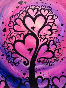 Heart Tree Paint by Diamonds