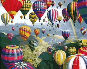 Hot Air Balloons Paint by Numbers