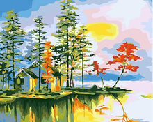 Load image into Gallery viewer, House in Forest Paint by Numbers