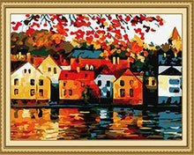 Load image into Gallery viewer, Houses by the River Paint by Numbers