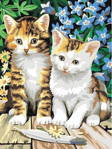 Kittens & Flowers Paint by Numbers