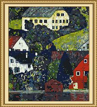 Load image into Gallery viewer, Klimt's Houses at Unterach on Attersee Paint by Numbers