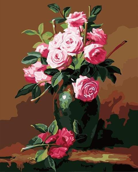 Lavish Roses Paint by Numbers