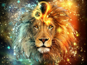 lion diamond art painting