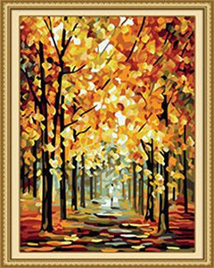 Leonid's Gold of Fall Paint by Numbers