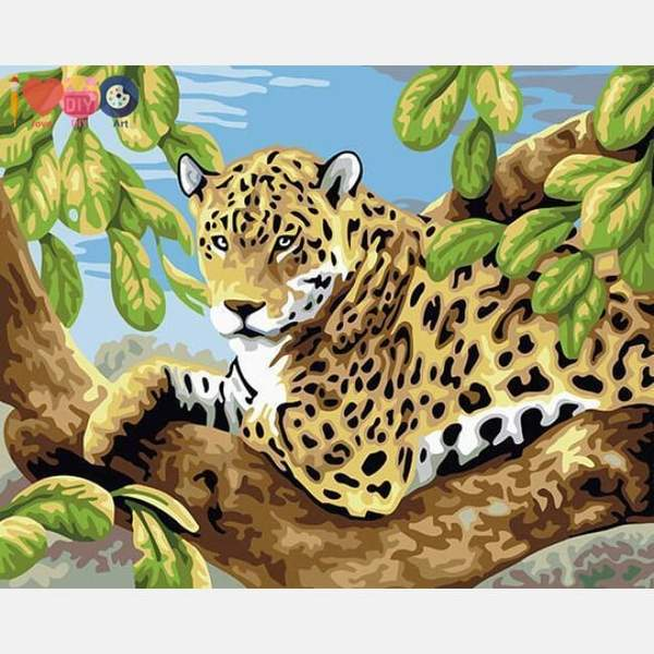 Leopard Paint by Numbers