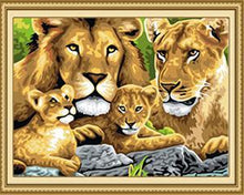 Load image into Gallery viewer, Lion Family Paint by Numbers