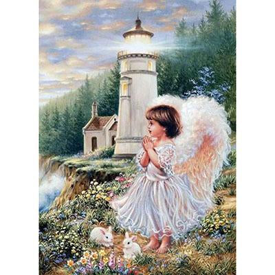 Little Angel Praying Paint by Numbers