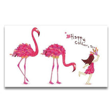 Load image into Gallery viewer, Little Girl & Flamingos Paint by Numbers