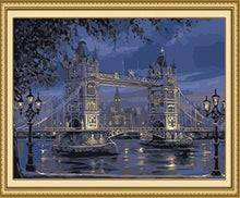 Load image into Gallery viewer, London Bridge Paint by Numbers
