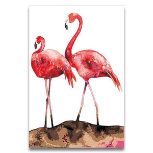 Lovely Flamingos Paint by Numbers
