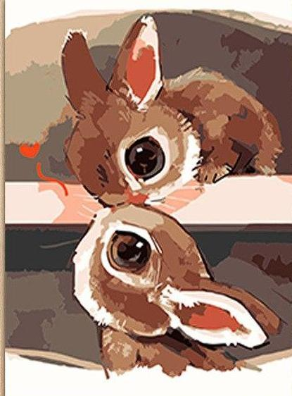 Lovely Rabbits Paint by Numbers