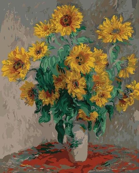 Lovely Sunflowers Paint by Numbers