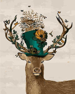 Mad Hatter Deer Paint by Numbers