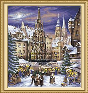 Medieval Christmas Market Paint by Numbers