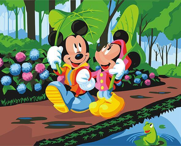 Mickie & Minnie Paint by Numbers