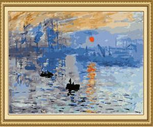 Load image into Gallery viewer, Monet's Impression Sunrise Paint by Numbers