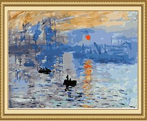 Monet's Impression Sunrise Paint by Numbers