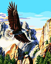 Load image into Gallery viewer, Mountains Eagle Paint by Numbers