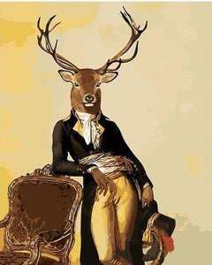 Mr. Deer Paint by Numbers