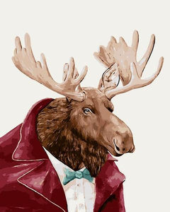 Mr. Moose Paint by Numbers