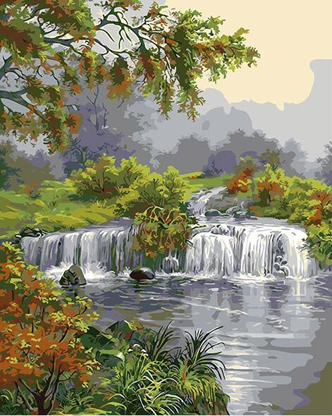 Natural Water Stream Paint by Numbers