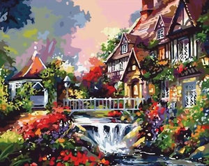 Nature Garden House Paint by Numbers