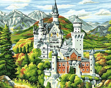Load image into Gallery viewer, Neuschwanstein Castle Paint by Numbers