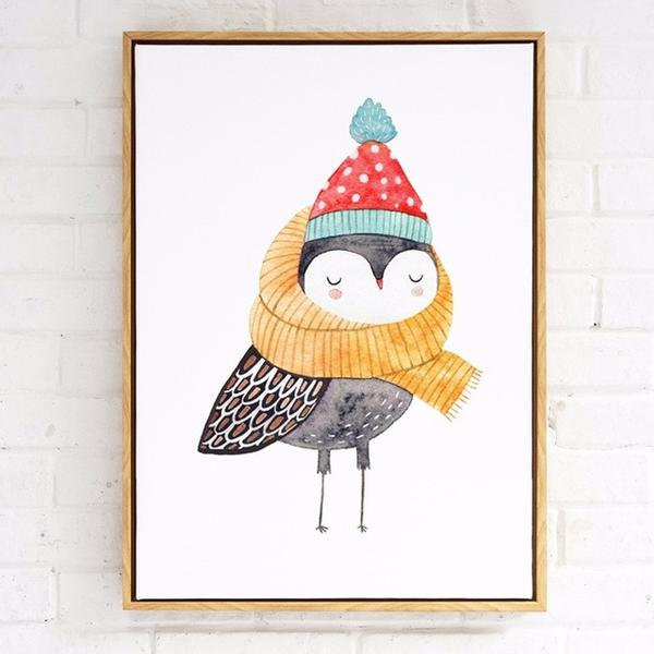 Owl in Scarf & Hat Paint by Numbers