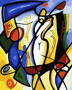 Picasso's Abstract Golf Paint by Numbers