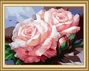 Pair of Roses Paint by Numbers