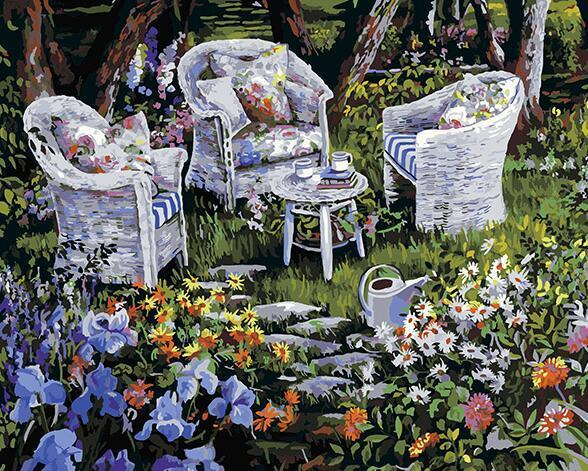 Peaceful Garden Paint by Numbers