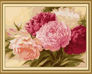Peonies Bunch Paint by Numbers