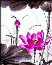 Load image into Gallery viewer, Pink Lotus Pint by Numbers