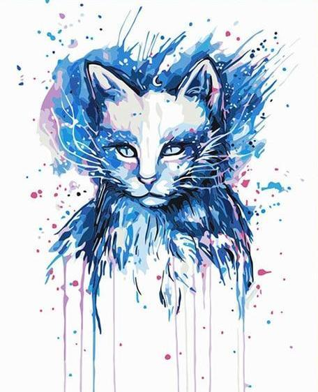 Pixie Cold Cat Paint by Numbers