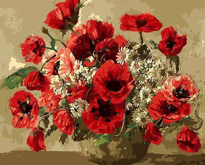 Poppies & Daisies Paint by Numbers