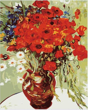Load image into Gallery viewer, Poppies in Copper Vase Paint by Numbers
