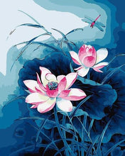 Load image into Gallery viewer, Pretty Lotus Paint by Numbers
