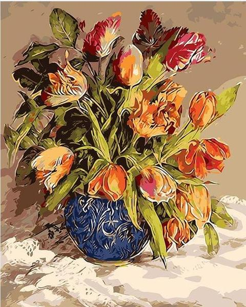 Pretty Tulips Paint by Numbers